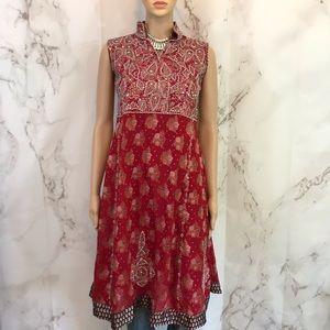 Vintage Beaded Indian Dress